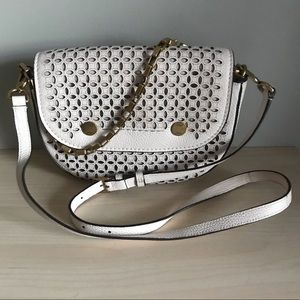 J.Crew Perforated Purse crossbody and chain strap